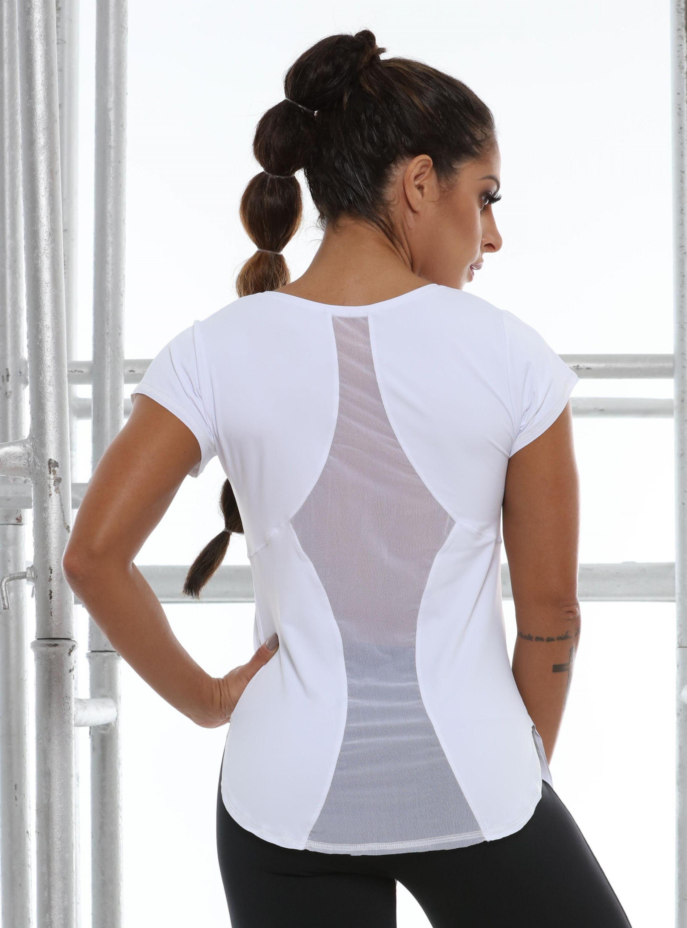 Camiseta Tower com Tule nas Costas - Donna Carioca - Moda fitness com preço  de fábrica b286ae0ddae