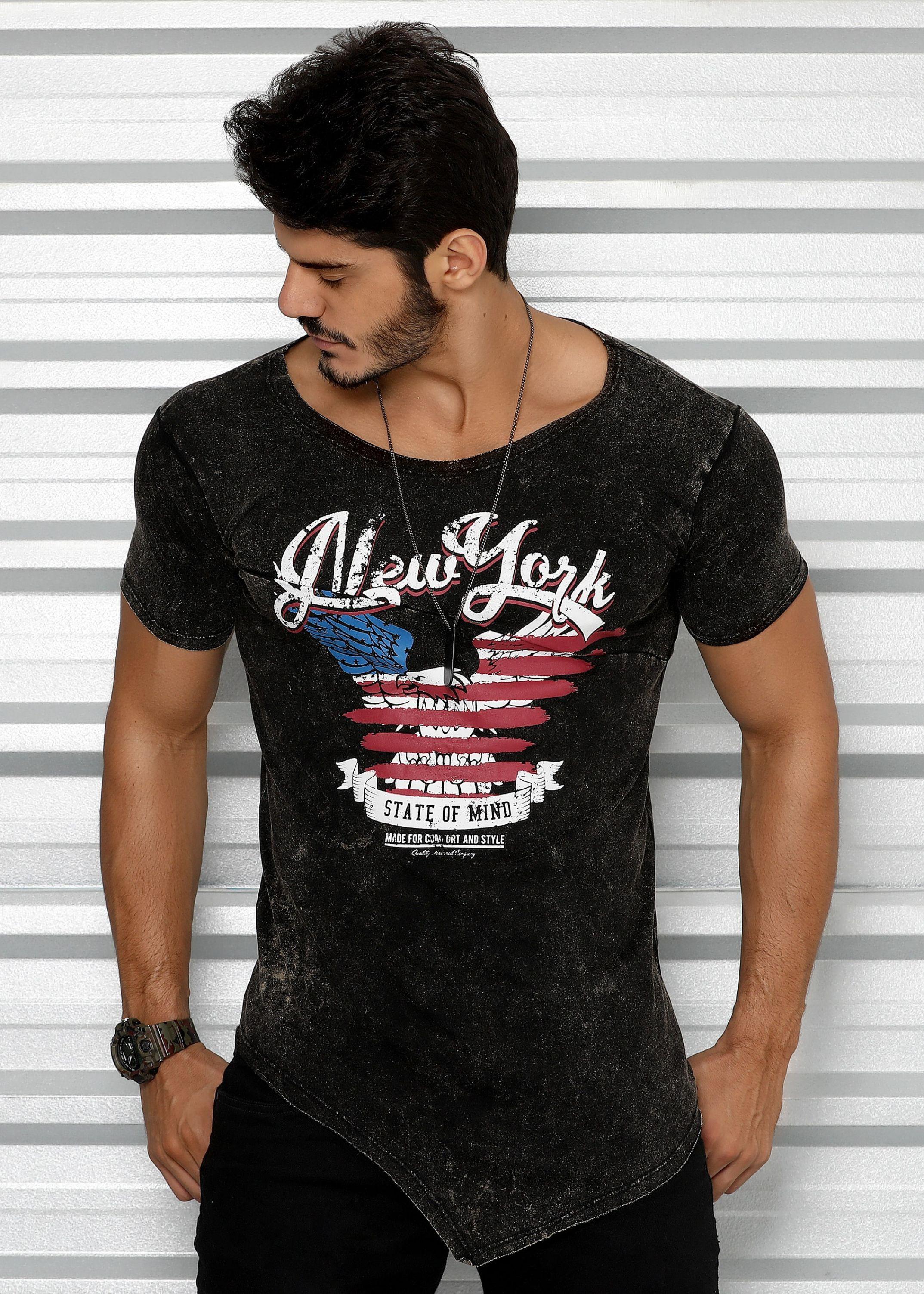 3494f1372 Camisa Estonada New York com Recorte - Donna Carioca - Moda fitness com  preço de fábrica