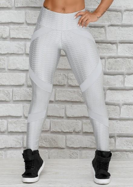 113e00ee8 Legging Essential em Suplex Poliamida com Tule - Donna Carioca ...