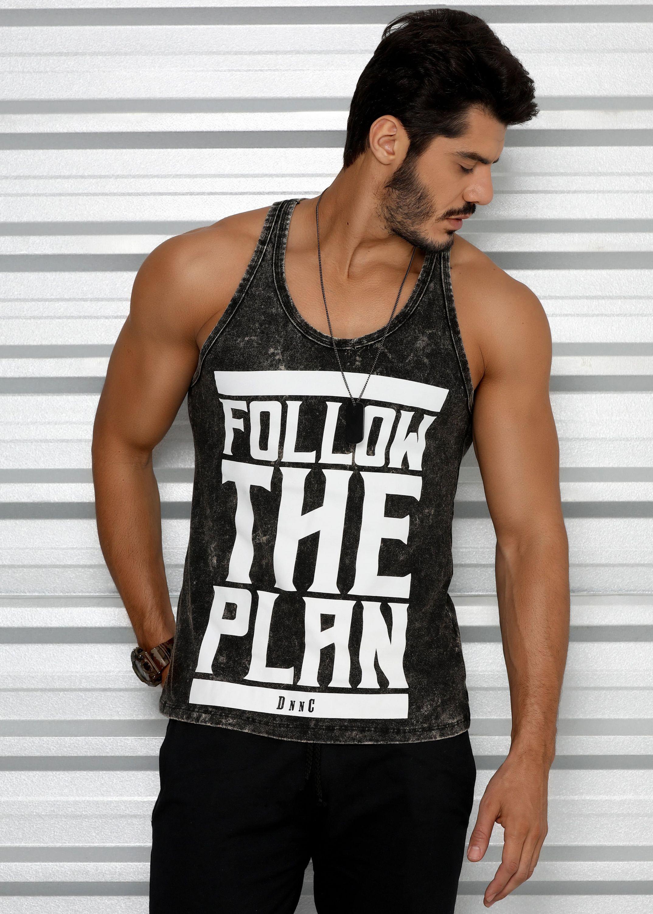 2b9780dc6 Regata Masculina Estonada Tradicional - Follow The Plan - Donna Carioca - Moda  fitness com preço de fábrica