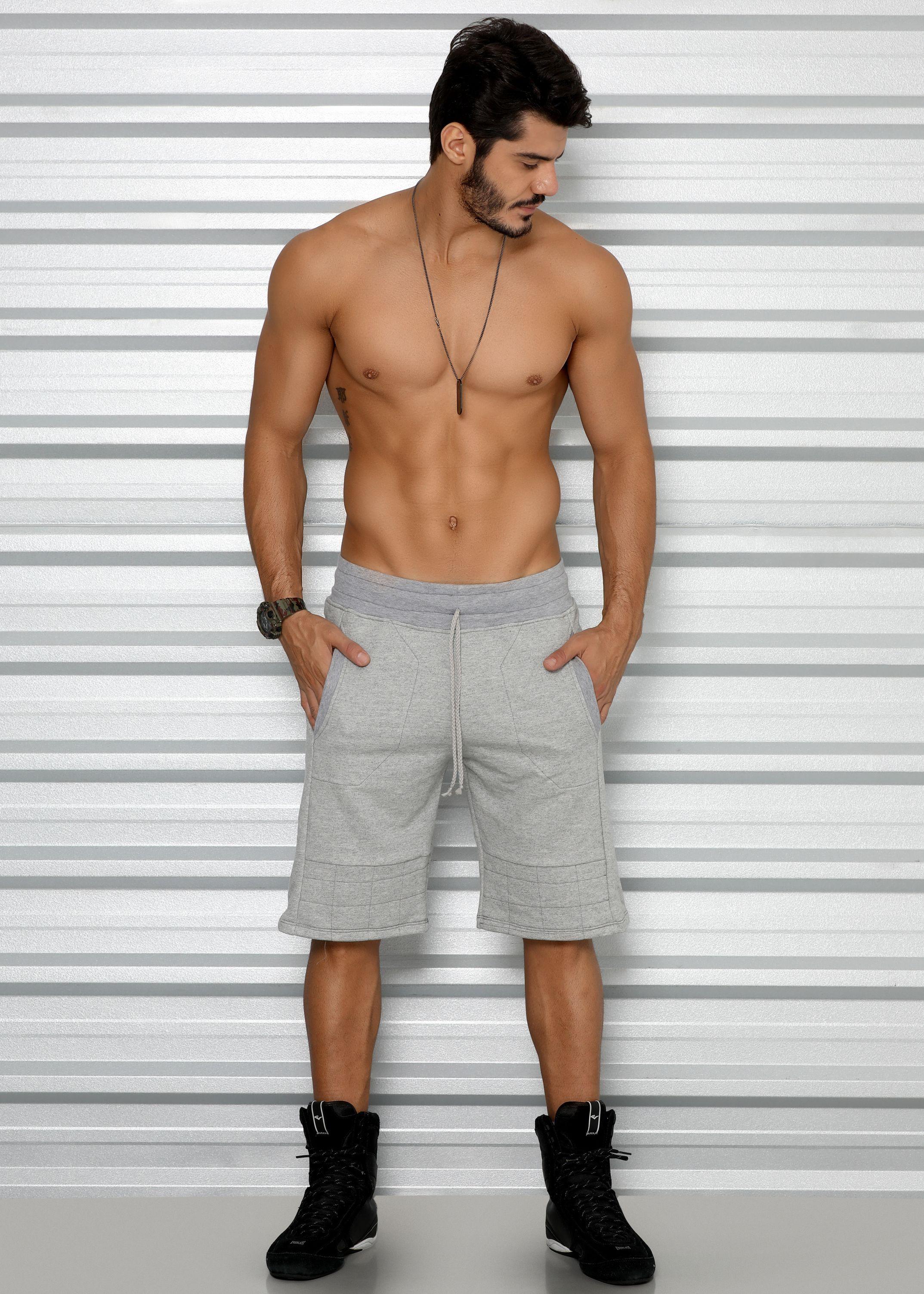 214736577 Bermuda Masculina em Moletom com Matelassê - Donna Carioca - Moda fitness  com preço de fábrica