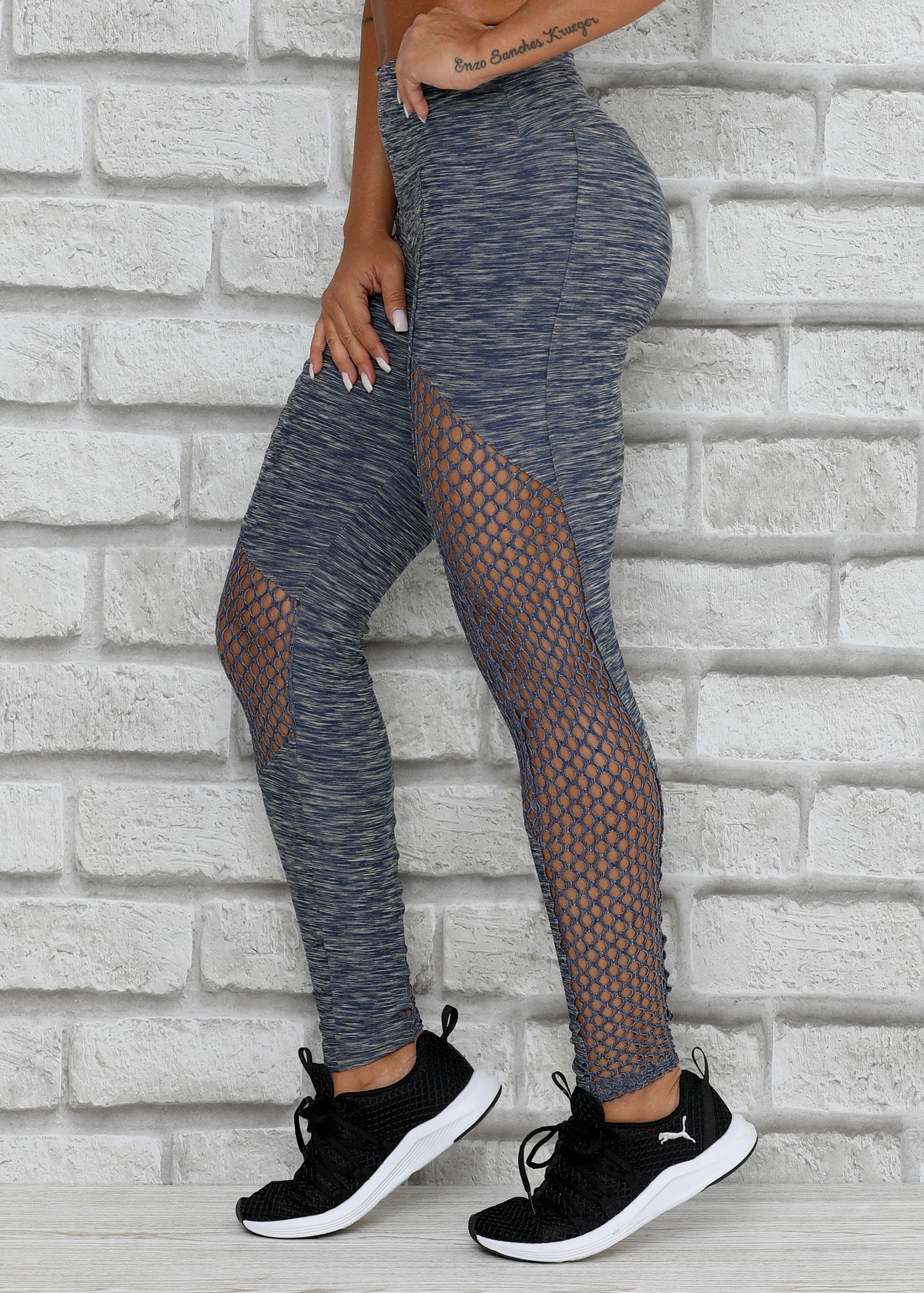 25d55667df Legging Noble em Tecido Mesclado e Tela - Donna Carioca - Moda ...