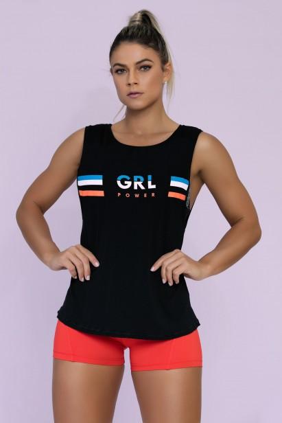 Camiseta Tower com Tule nas Costas - Donna Carioca - Moda fitness ... a2fa752d5e4