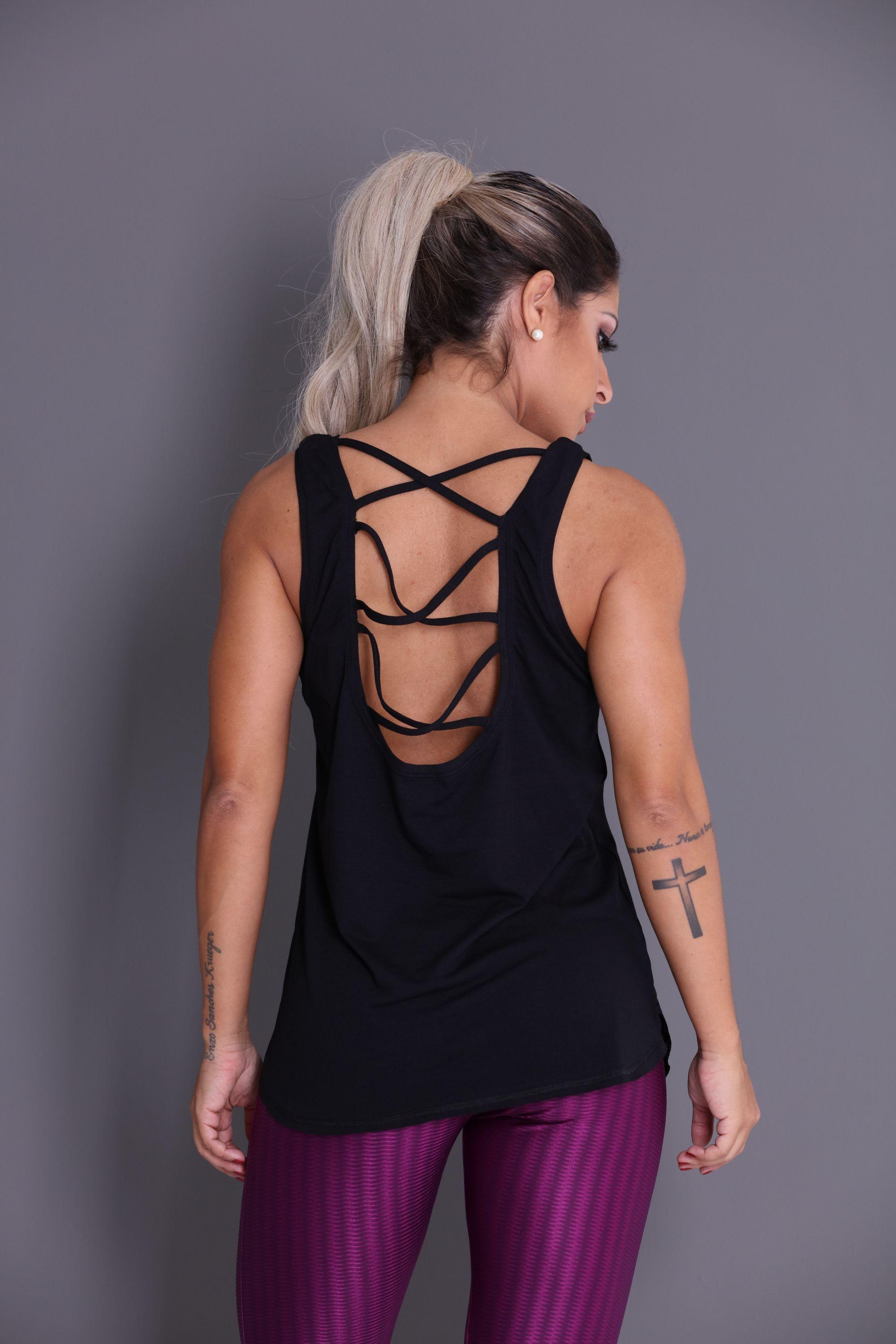 Regata Caveira Tech com Tiras - Donna Carioca - Moda fitness com preço de  fábrica 038cd67398c